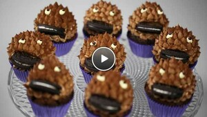 Chocolade Cookie Monster Cupcake