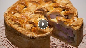 Kip-bacon pie met appel
