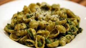 Conchiglie al pesto fresco