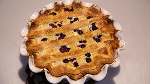 Blueberry pie (blauwe bessentaart)