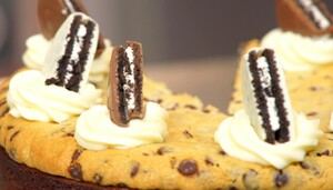 Brownie oreo chocolate chip cookie cheesecake