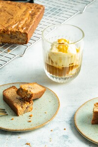 Blondies met affogato