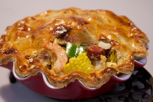 Creoolse frogmore pie