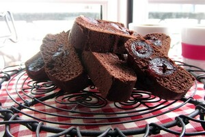 Chocolate and cherry biscotti