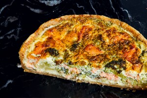 Quiche gerookte zalm-broccoli