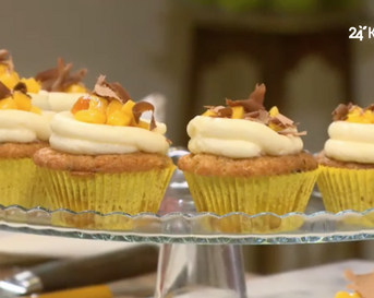 chocolate chip mango cupcakes